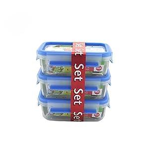 Emsa 508558 Boîte alimentaire Clip & Close 3D Perfect Clean Lot de 3 X 1 L Empilé