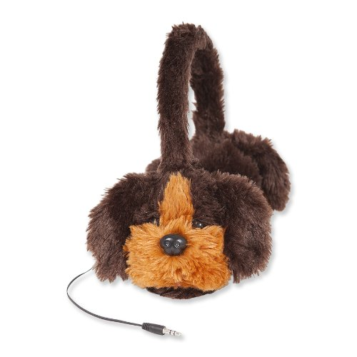Retrak Animalz Retractable Volume Limiting Children'S Headphones, Puppy Dog (Etaudfdog)
