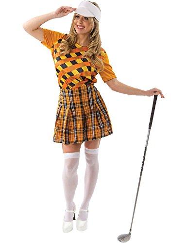 Female Golfer Costume (Orange & Black)