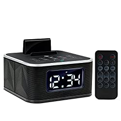 GOgroove Dual Alarm Bluetooth Clock Speaker with FM Radio , USB Charging and LED Display - Works With Apple iPhone 6 Plus , Samsung Note 5 , LG G4 and More Smartphones