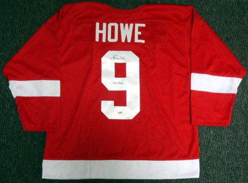 Gordie Howe Autographed Red Wings Red Jersey Mr. Hockey PSA/DNA цена