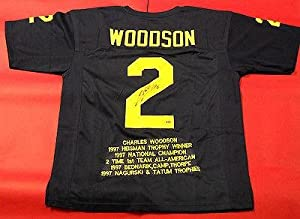 Autographed Charles Woodson Jersey - Michigan Wolverines Stat Um Heisman Aash -... by Sports+Memorabilia