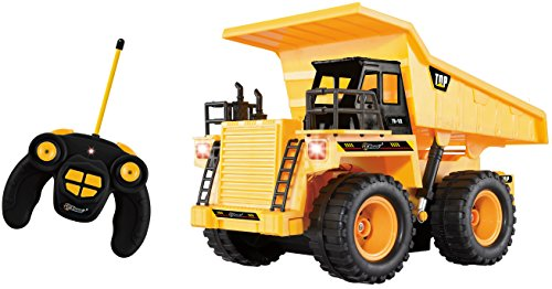 Top Race TR-112 5 Channel Fully Functional RC Dump Truck with Lights and Sound (Remote Trucks compare prices)