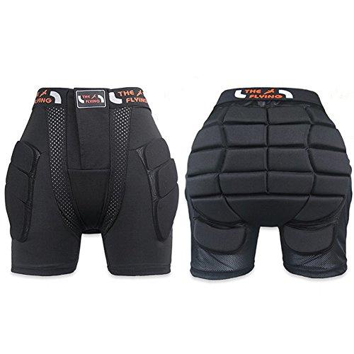 Flying Protective Hip Pad Padded Shorts Ski Skate Snowboard Skating Bike Protection Tailbone Compression Shorts Pants (large) (Cycling Board Shorts compare prices)