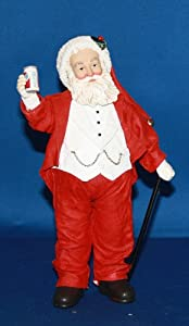 Possible Dreams® ClothtiqueTM Holiday Host Features Santa in a Red Outfit Holding a Can of Pepsi #3605