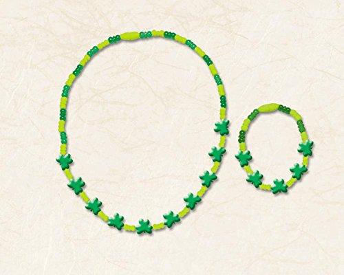 set shamrock bracelet & ncklc - 1