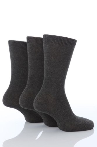 3 Pairs Boys Girls School Ankle Socks 9-12 shoe Grey