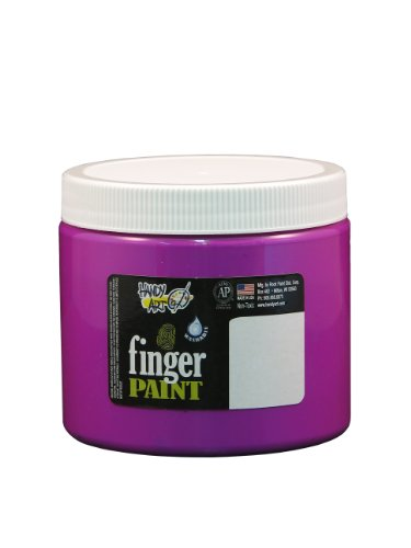 Handy Art by Rock Paint 241-159 Washable Finger Paint, 1, Fluorescent Violet, 16-Ounce - 1