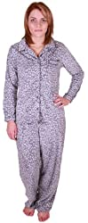 Aria Collection Women's Sueded Microfleece 2-Piece Pajama Set