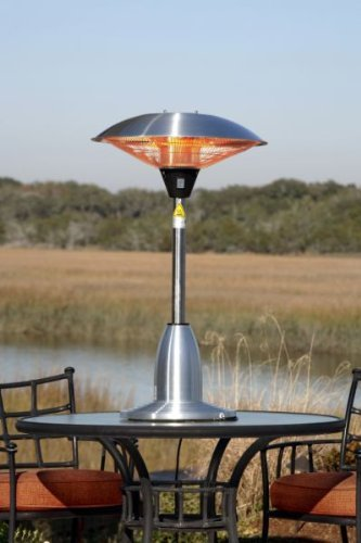 Table Top Round Stainless Steel Halogen Patio Heater Table Top Round Stainless Steel Halogen Patio