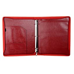 The Professional Business Zippered Padfolio, Wine Red