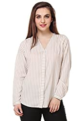 PURYS Beige & White Striped Shirt - Large