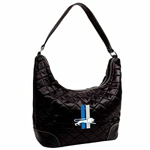 NFL Detroit Lions Retro Quilted Hobo Bag, Black by Littlearth