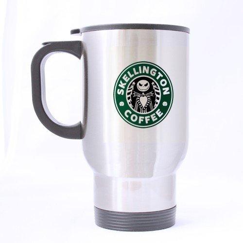 XOX-T Custom Funny Jack Skellington Nightmare Before Christmas Logo Anniversary Gift Travel Mug