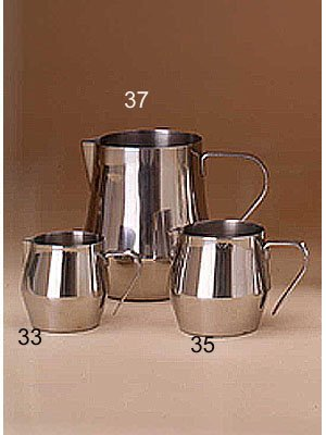 European Gift and Houseware 37 Stainless Steel Frothing Pitcher, 32-Ounce