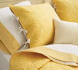 Aris Coverlet - Daffodil/White