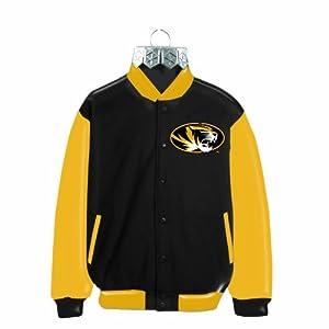 NCAA Missouri Tigers Blown Glass Jacket Ornament