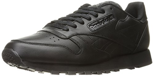 Reebok Men's Cl Lthr Fashion Sneaker, Us-Black/Black/Black, 7.5 M US