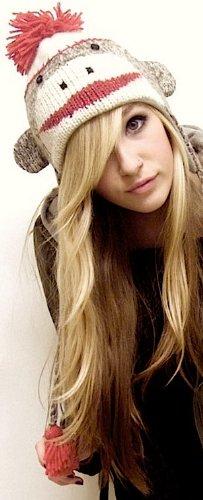 Women's Warm Knit Animal Beanie Hat w/ Ear Flaps