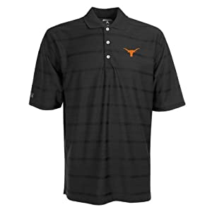 Texas Longhorns Polo - NCAA Antigua Mens Tone Black by Antigua