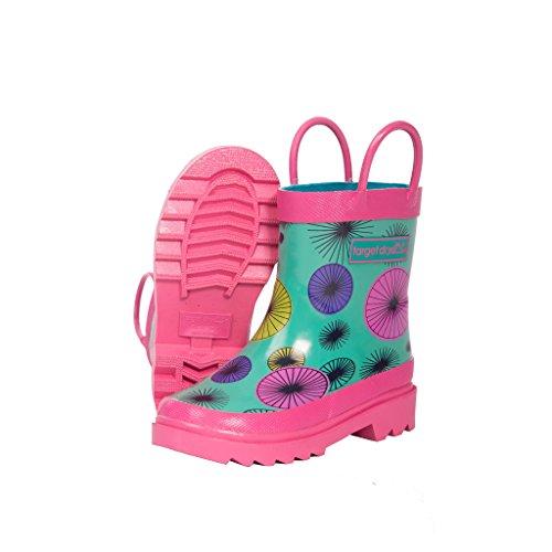 Target Dry Evie - Stivali in gomma fantasia - Bambina (25 EU) (Foglia di tè/Rosa)
