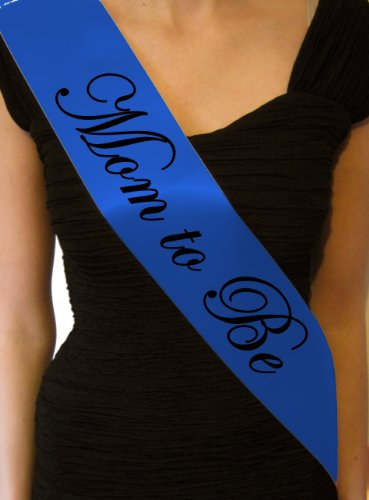 Royal Blue Mom to Be Baby Shower Sash - great gift, decoration