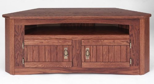 Cheap #995 Solid Wood TV Stand Mission Oak Plasma LCD Corner TV Stand (B003IRC0F0)