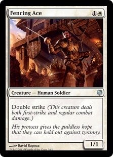 Magic: the Gathering - Fencing Ace - Duel Decks: Heroes vs Monsters (Fencing Ace Mtg compare prices)