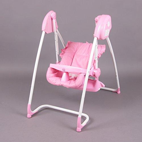 2-in-1-Hochstuhl-elektrische-Babyschaukel-rosa-Homey