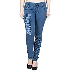 Ajaero Slim Fit Denim Lycra Women Jeans (Dark Blue, 28)