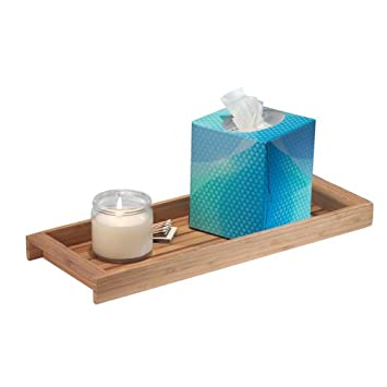 InterDesign Formbu Vanity, ECO Tank Top Tray, Natural Bamboo