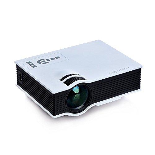 Amoker Multi-media Mini HD Portable Video projector for Home Cinema Theater