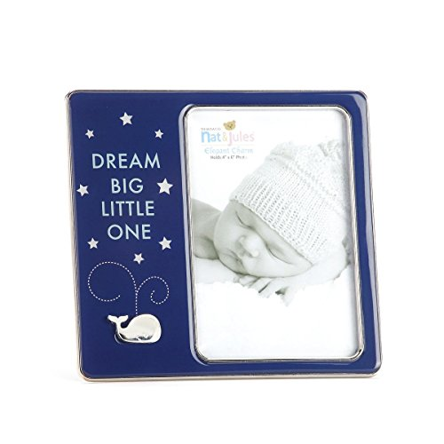"DEMDACO Dream Big Little One Whale Photo Frame, 4""x6"""