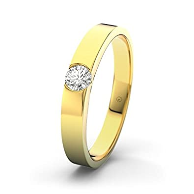 21DIAMONDS Women's Ring Bethany 21PREMIUM 0.2 ct Brilliant Cut Diamond Engagement Ring 14ct Yellow Gold Engagement Ring
