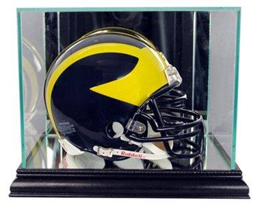 NFL Mini Football Helmet Glass Display Case, Black (Nfl Mini Football Display Case compare prices)
