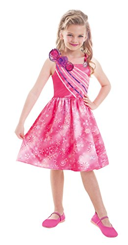 Amscan-997545-Kinderkostm-Barbie-und-die-geheime-Tr-Extra-circa-3-5-Jahre-Gre-104-pink