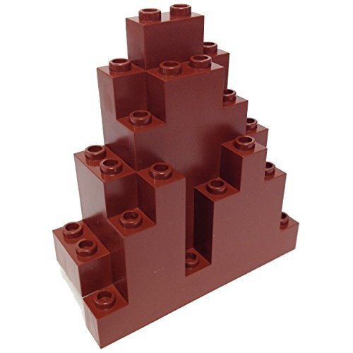 Lego Parts: Rock Panel Triangular (LURP) (Reddish Brown) - 1