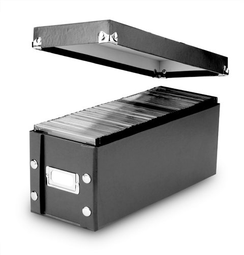 Read About Snap-N-Store CD Storage Box, 13.25 x 5.125 x 5.125 Inches, Black (SNS01521)