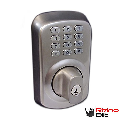 Heavy Duty Electronic Keyless Deadbolt Door Lock In Satin