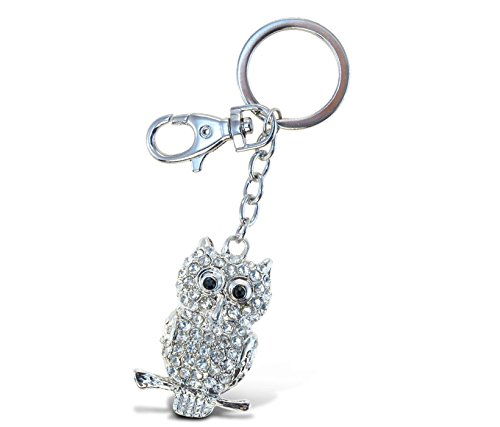 Puzzled Clear Owl Sparkling Charm Elegant Keychain Sparkling Charm Keychain