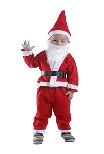 boutique1583 Set Of 5 Children Santa Claus Costume Suit Outfit New