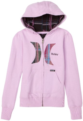 Hurley Girls 7-16 Splicon Hoody, Orchid Bouquet, Large