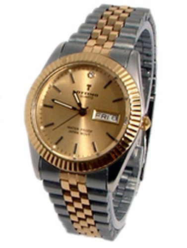 Silver Gold 2 Toned Watch Mens Fashion Luxury Gift