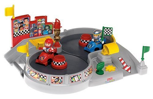 Fisher-Price World of Little People Spin and Crash Raceway