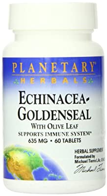 Planetary Herbals Echinacea-Goldenseal with Olive Leaf Tablets, 60 Count