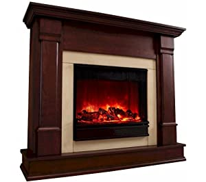 Real Flame Silverton Electric Fireplace Kitchen Dining