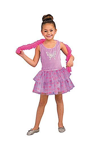 Glitzy Girl Halloween Costume Purple Dress Pink Boa Dress up Set Sizes 4-6