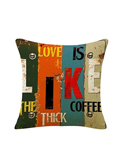 SuperStudio Funda De Cojín Love Like Coffee