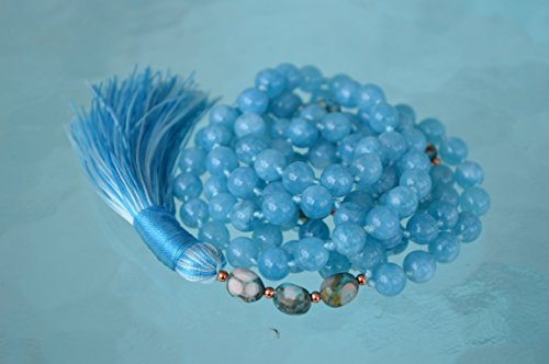 aaa-aquamarine-beads-japa-mala-8-mm-108-1-energized-hand-knotted-beads-protects-travel-opens-the-cha
