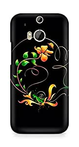 Amez designer printed 3d premium high quality back case cover for HTC One M8 (Abstract Dark 22)